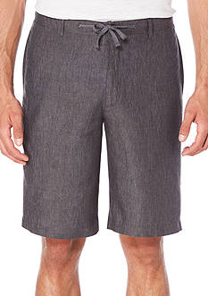Perry Ellis Solid Drawstring Linen Shorts