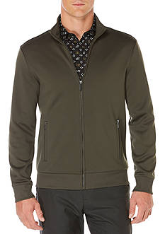 Perry Ellis Textured Full Zip Jacket