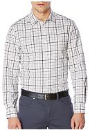 Perry Ellis® Long Sleeve Heather Check Plaid