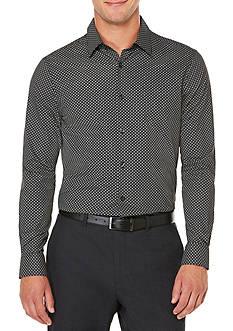 Perry Ellis Long Sleeve Diagonal Geo Printed Shirt