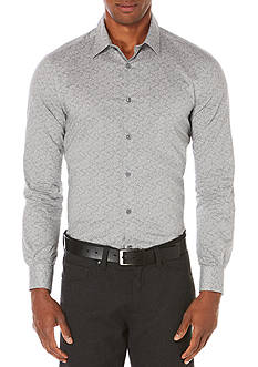 Perry Ellis Long Sleeve Neat Paisley Print Shirt