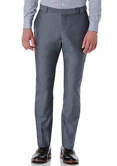 Perry Ellis® Slim Fit Chambray Stretch Flat Front Pants