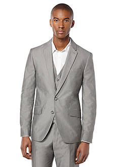 Perry Ellis Slim Fit Chambray Stretch Suit Jacket