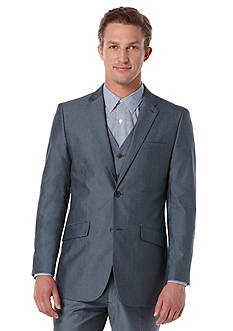 Perry Ellis® Slim Fit Chambray Stretch Suit Jacket