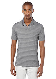 Perry Ellis® Regular Fit Stripe Open Polo Shirt