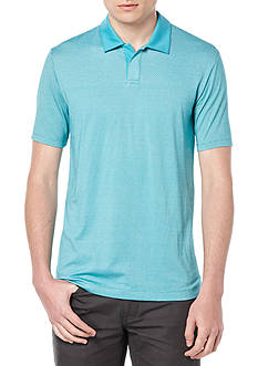 Perry Ellis® Regular Fit Cotton Texture Open Polo Shirt