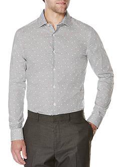 Perry Ellis Long Sleeve Regular Fit Non Iron Dot Print Shirt