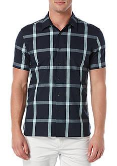 Perry Ellis Large Windowpane Pattern Shirt