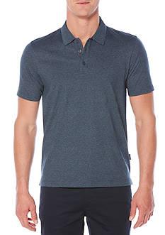 Perry Ellis Short Sleeve Pima Paisley Print 3-Button Polo Shirt