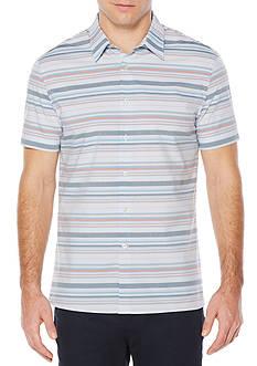 Perry Ellis Short Sleeve Multi Horizontal Stripe Shirt