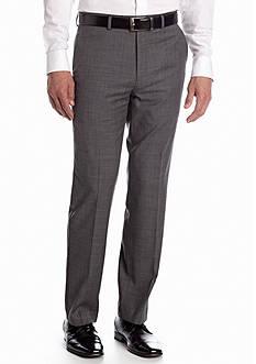Chaps Classic Fit Flat Front Sharkskin Suit Separate Pants