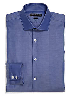 Vince Camuto Cobalt Herringbone Stripe Dress Shirt