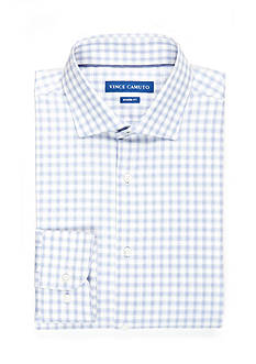 Vince Camuto Modern-Fit Dobby Check Long Sleeve Dress Shirt