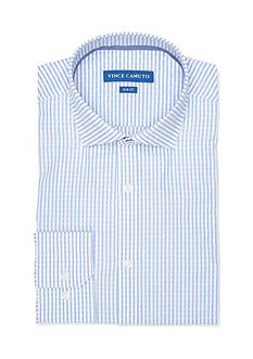 Vince Camuto Slim-Fit Dobby Stripe Dress Shirt