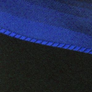 Haggar: Blue Haggar Spectrum Polyester Tie & Border Pocket Square Set