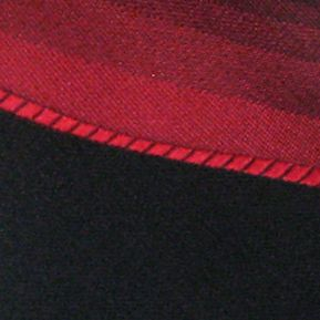 Haggar: Red Haggar Spectrum Polyester Tie & Border Pocket Square Set
