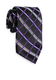 Haggar Woven Grid Tie