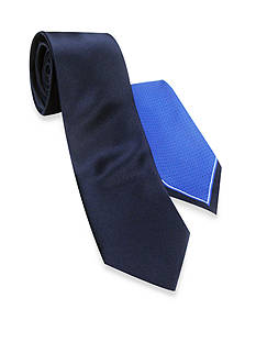 Haggar® Solid Tie Pindot & Pocket Square