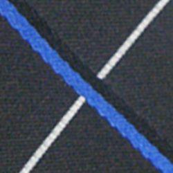 Haggar Men Sale: Black Haggar Long Woven Grid Neck Tie