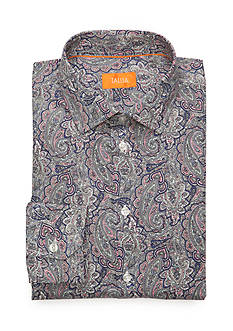 Tallia Orange Slim-Fit Paisley Print Dress Shirt