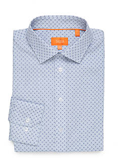 Tallia Orange Slim-Fit Dot Print Dress Shirt