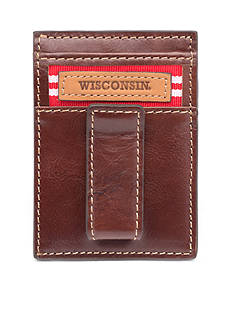Jack Mason Wisconsin Tailgate Multicard Front Pocket Wallet with Money Clip