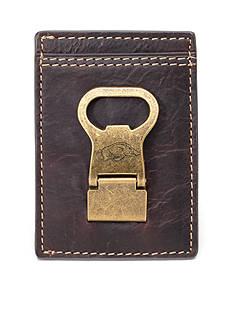 Jack Mason Arkansas Gridiron Multicard Front Pocket Wallet with Money Clip