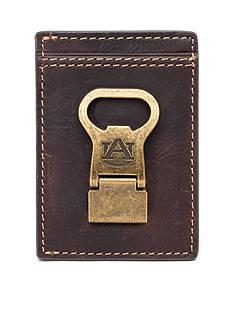 Jack Mason Auburn Gridiron Multicard Front Pocket Wallet with Money Clip