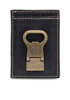 Jack Mason UNC Tar Heels Gridiron Multicard Front Pocket Wallet with Money Clip