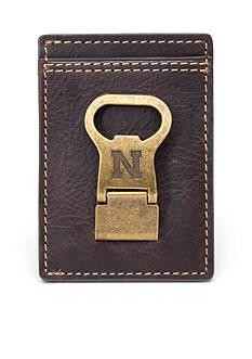 Jack Mason Nebraska Gridiron Multicard Front Pocket Wallet with Money Clip