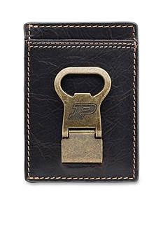Jack Mason Purdue Boilermakers Gridiron Multicard Front Pocket Wallet with Money Clip