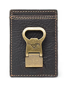 Jack Mason SMU Gridiron Multicard Front Pocket Wallet with Money Clip