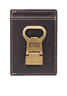 Jack Mason TCU Gridiron Multicard Front Pocket Wallet with Money Clip