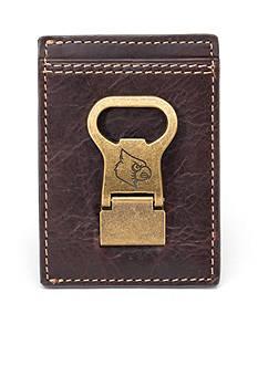 Jack Mason Louisville Gridiron Multicard Front Pocket Wallet with Money Clip