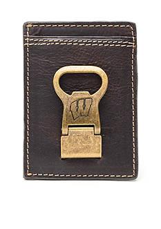 Jack Mason Wisconsin Gridiron Multicard Front Pocket Wallet with Money Clip