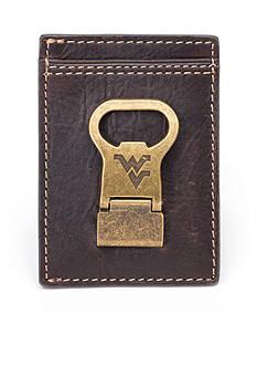 Jack Mason West Virginia Gridiron Multicard Front Pocket Wallet