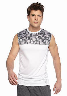 SB Tech® Explosion Print Run Muscle Tee