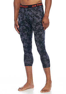 SB Tech® Three-Quarter Printed Compression Leggings