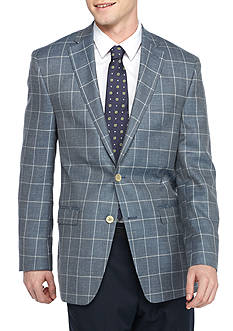 Austin Reed Classic-Fit Linen Blend Windowpane Sport Coat