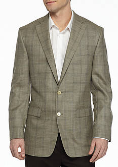 Austin Reed Classic-Fit Windowpane Spot Coat