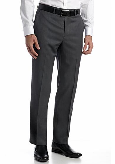Austin Reed Solid Flat Front Pants