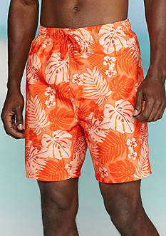Ocean & Coast® Floral Print Swim Trunks