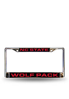 Rico Industries NC State Red Chrome License Frame