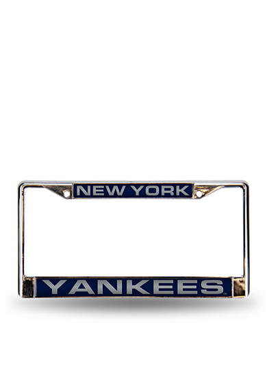 Rico Industries NY Yankees Blue Chrome License Frame