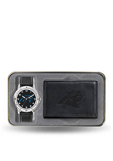Rico Industries Carolina Panthers Black Watch And Wallet Gift Set-Online Only