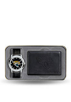 Rico Industries Jacksonville Jaguars Black Watch and Wallet Gift Set-Online Only