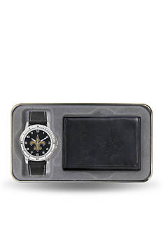 Rico Industries Saints Black Watch And Wallet Gift Set-Online Only