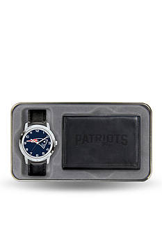 Rico Industries New England Patriots Black Watch and Wallet Gift Set-Online Only
