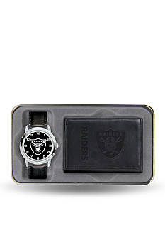 Rico Industries Oakland Raiders Watch and Wallet Gift Set-Online Only