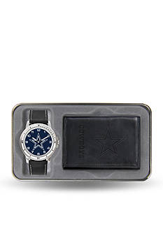 Rico Industries Dallas Cowboys Black Watch And Wallet Gift Set-Online Only
